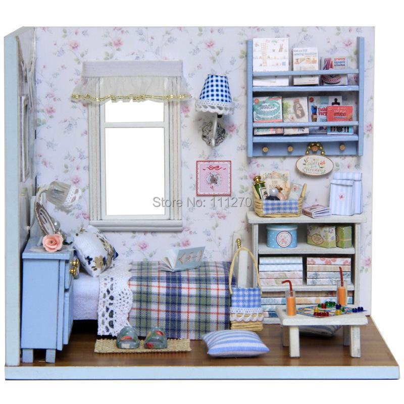 DIY Wood Dollhouse Miniature Puzzle Model Handmade Doll house Kit Cover Creative Birthday Gift-Sunshine overflowing - Sunrain Technology Co., Ltd store