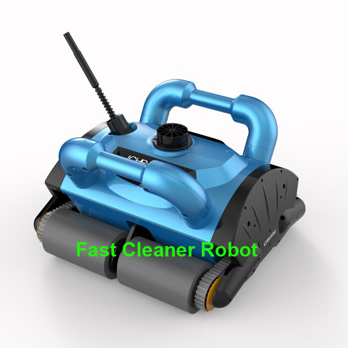 Free Shipping New Model iCleaner-200 Wall climb function Automatic Swimming Pool Cleaner Robot with caddy cart and 15m cable(China (Mainland))