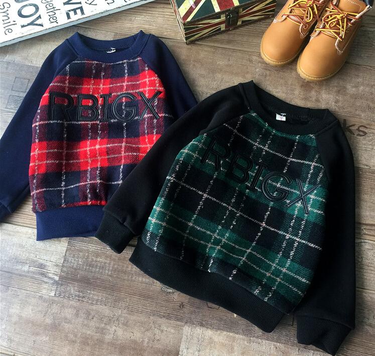 Baby Girls Plaid Hoodies Autumn Winter Kids Korean Letter Print Clothes Casual Sweatshirts Children Fashion Clothing 5pcs/LOT<br><br>Aliexpress