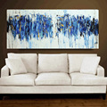 100 Hand Painted Turquoise Oil Painting Modern Abstract Canvas Paintings Home Painting Calligraphy On Wall Art