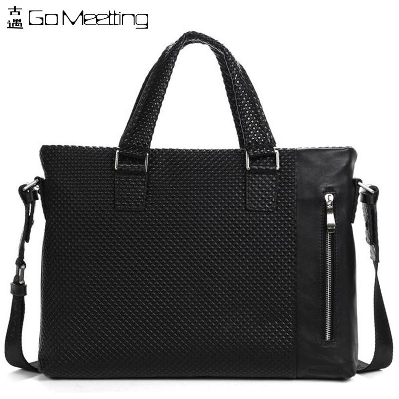 DANJUE Genuine Leather Handbags Fine Grid Embossing First Layer Cowhide Shoulder Bags Cross Body Bags Men Messenger Bags<br><br>Aliexpress