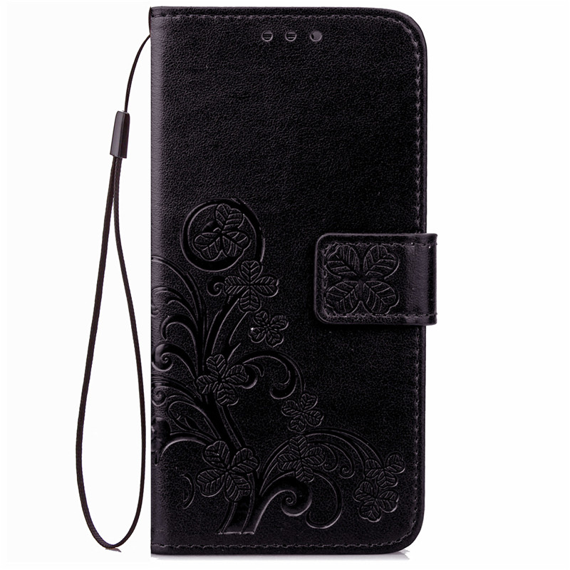 Wallet Anti-Knock Lucky Leaf Phone Case For Samsung Galaxy J1 J120(China (Mainland))