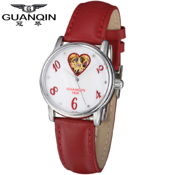 Здесь можно купить  GUANQIN geneva Automatic watch watches women luxury brand retro hollow business Fashion & Rhinestone  watch waterproof 110032  Часы