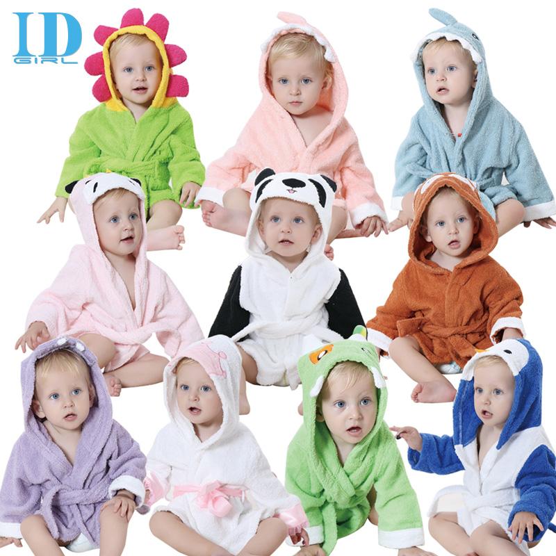 IDGIRL Cute Animal Cartoon Baby Bathrobe Infant Children Hooded Towel Wrap 100% Quality Toddler Spa Bath Towel JY0248(China (Mainland))