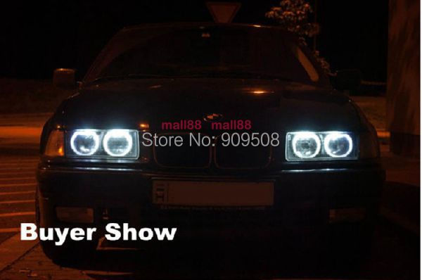 Angel Eyes For BMW E39 5 series 525/530/540/M5 (Non Projector) 2001-2003 SMD LED Car headlight halo rings(China (Mainland))