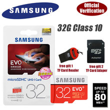 100% Genuine Samsung  micro SD TF new plus Class 10 C10 Memory Card microsd 32GB 32G up to 80MB/s Support Official Verification(China (Mainland))