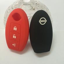 Силиконовые дистанционного управления ключеник автомобиль чехол для Nissan Teana / X оптово-trail / Livina / Tiida / Qashqai / New солнечный ключ защиты чехол