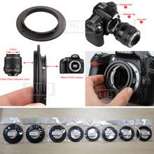Aluminum Camera Macro Lens Reverse Adapter Ring for Nikon AI to 49mm 52mm 55mm 58mm 62mm 67mm 72mm 77mm Thread Mount(China (Mainland))