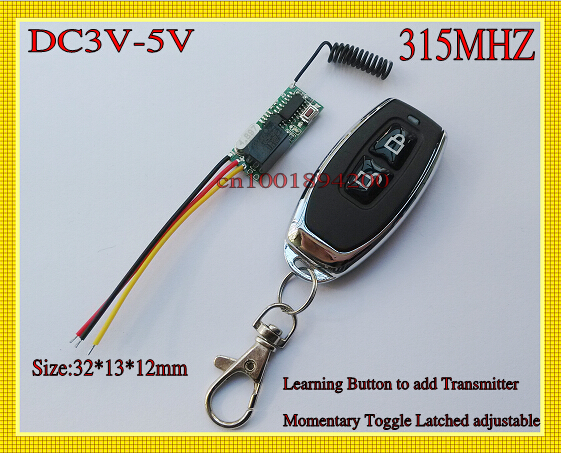 DC3V-5V Relay Mini Size Remote Control Switch Micro Receiver Transmitter 3v 3.7v 4.5v 5v Wireless LED Power Remote Controller <br><br>Aliexpress