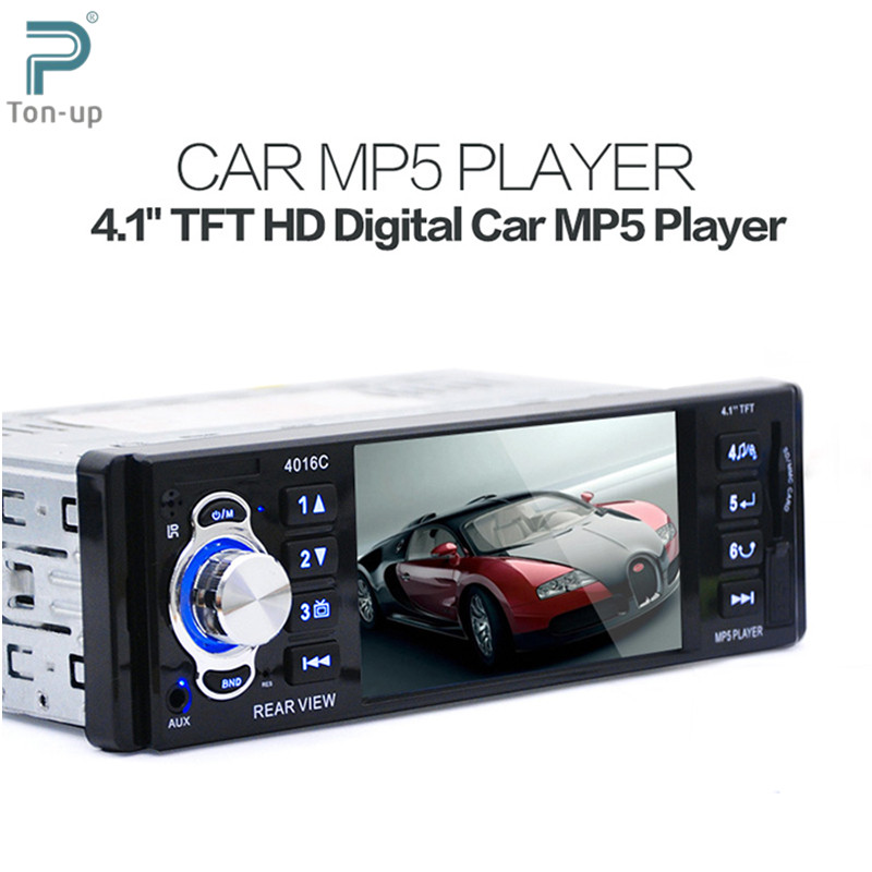 """12V 1 Din 4.1"""" TFT HD LCD Display Car Radio Audio MP5 Video Player with FM USB SD AUX Ports Support Rear View Camera(China (Mainland))"""