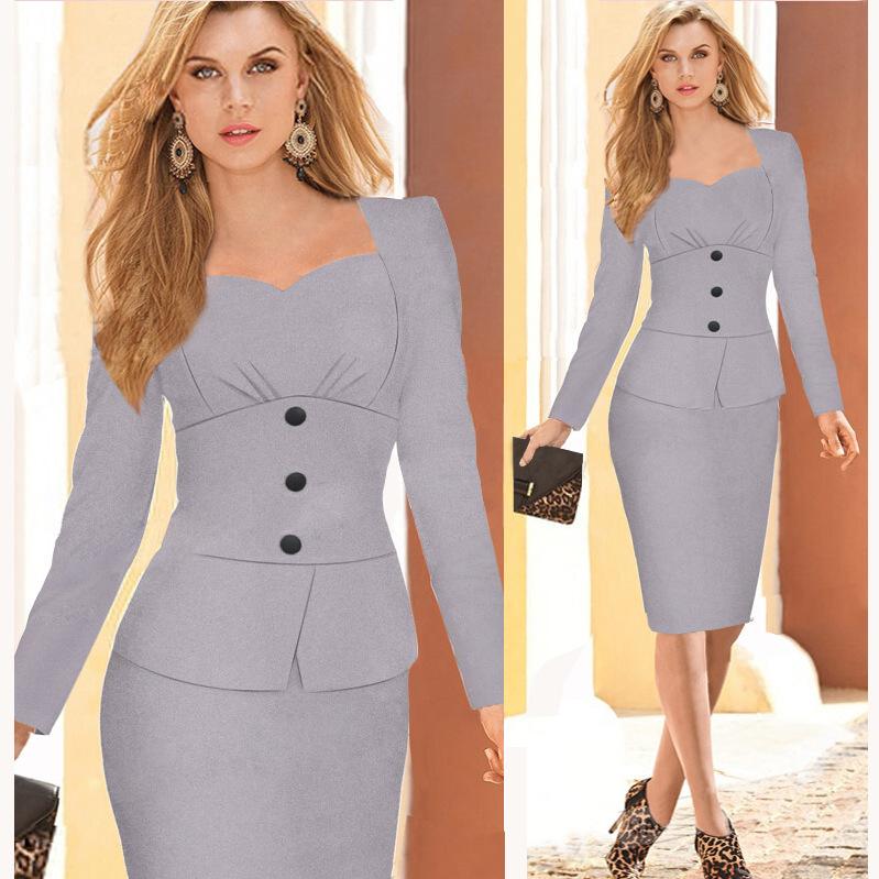Plus Size Brand Designer New 2015 Summer Women Work Wear Button Elegant Sexy Bodycon Pencil Casual Office Dress White Dress(China (Mainland))