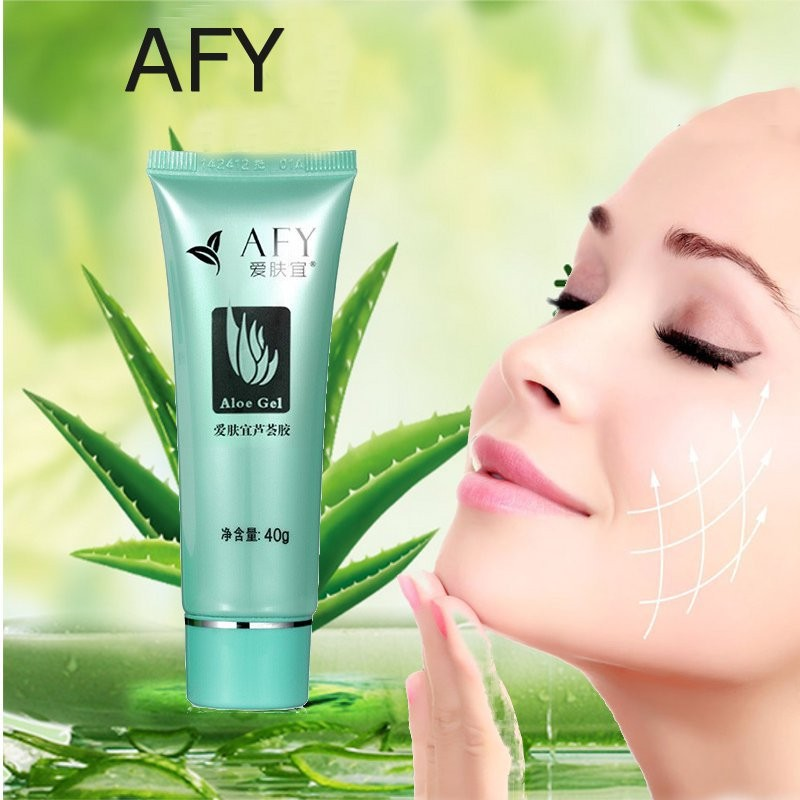 AFY Face Care Natural Pure Aloe Vera Extract Gel Cream Skin Care Products Concentrated Moisturizing Anti-Acne Anti-aging 40g(China (Mainland))