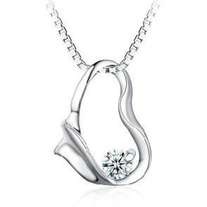 925 silver pendant necklace Love heart pendants fashion Jewelry(China (Mainland))