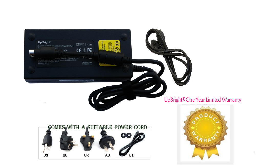 UpBright NEW Global 24V 6A 4-Pin DIN AC / DC Adapter For Philips Magnavox HD Ready DVD LCD TV 24VDC 6 Amp 24 Volt Power Charger(China (Mainland))