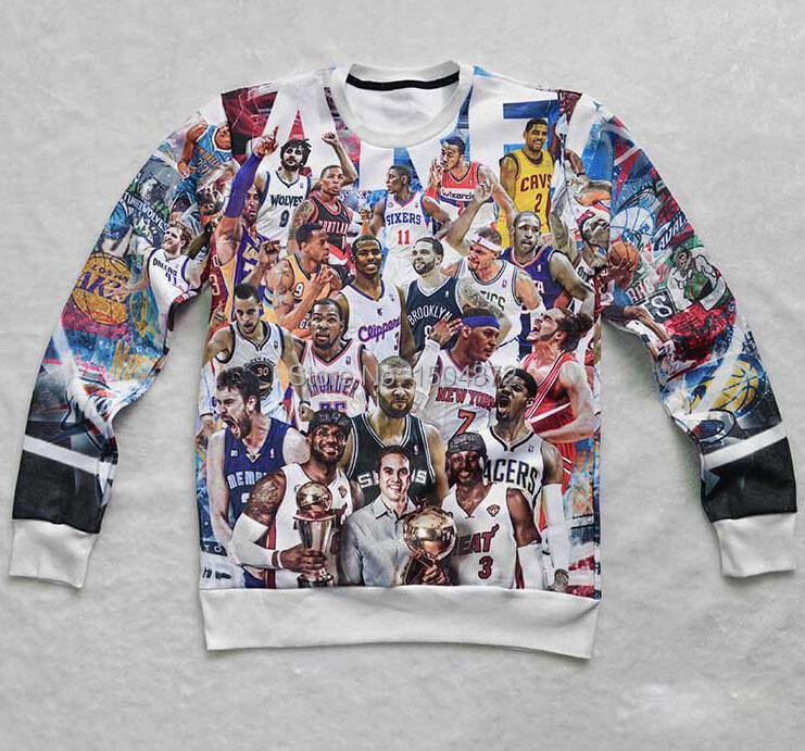 Hot basketball stars Lakers Maddie James all-star Print sweatshirt women/man fitness jog sportswear casual hoodies Free shipping(China (Mainland))