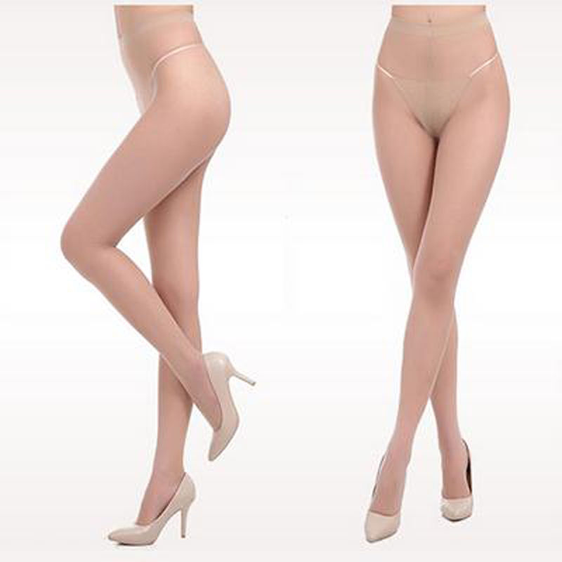 2016 Fashion Women T File Seamless Stockings Sexy Transparent Thigh High tights Pantyhose Medias 4 color(China (Mainland))