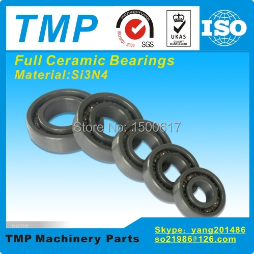 607CE Full Ceramic Bearing (7x19x6mm) Si3N4 material Deep Groove Ball Bearing High Temperature Anti friction bearings(China (Mainland))