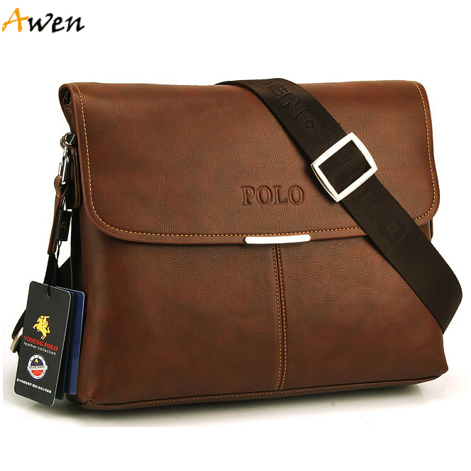Awen new arrival large size horizontal vintage leather mens messenger bag,simple leather men's briefcase bag,mens leather bags(China (Mainland))