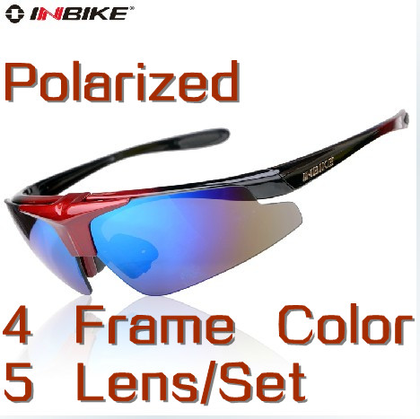 Brand Inbike Cycling Bicycle Bike Outdoor Sports Sun Glasses Eyewear Goggle Sunglasses - 5 Lens Polarized Cherry World store