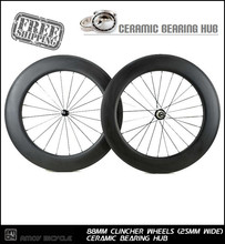 Buy Ceramic Bearing hub 25mm width 88mm clincher wheels 700c full carbon fiber bike wheelset.Ceramic Bearing carbon wheels for $560.00 in AliExpress store