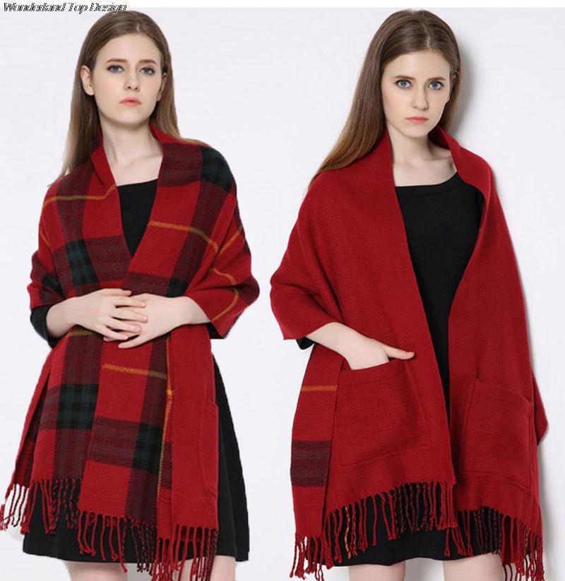 Women Tassels Scarves Street Pocket Shawl Printing Lady Scarf High Quality Luxurious New Designer Plus Size Wraps 2853(China (Mainland))