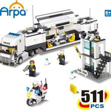 Arpa Lego Compatible Building Blocks  City Police Station Coastal Guard SWAT Truck Motorcycle / Learning & Education toys(China (Mainland))