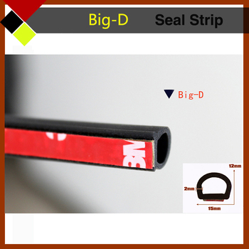 "240"" 600cm Big D Shape Car Exterior&Interior Protector Seal Strip Flexibility Weatherstrip Nois-Proof Easy Insulation Universal"