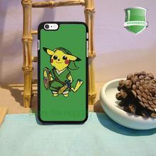 Pokemon pikachu Legend Zelda original black cell phone case iphone 6 plus 6s 6splus 5 5s 5c 4 4s W-1955 - Wonder Cases store