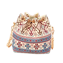 New 2016 Hot Canvas Bucket Bag Female Casual Shoulder Bag Cross body Women Messenger Bag Day Clutch with chain