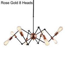 Modern Suspension Spider Pendant Lights With 6/8 Heads Loft Industrial Satellite LED Pendant Lamps For Living Room & Bar(China (Mainland))