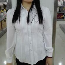 2016 New Spring Office Lady White Shirts Long Sleeve Chiffon Casual Women Blouse Formal Slim Tops Shirt Blusas Femininas