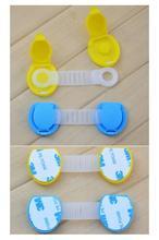 Hot 10pcs Set Baby Child Kid Drawer Cabinet Lock Short Style Safety Lock Yellow Blue Baby
