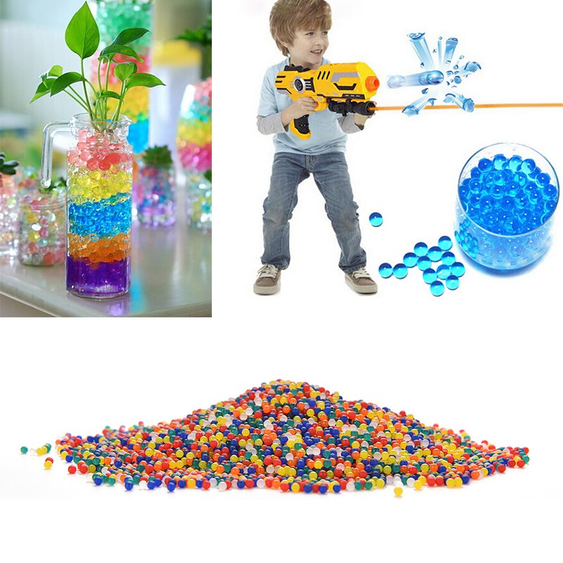 3000 Pcs Colorful Crystal Bullet Soft Bullet Water Gun Paintball Bullet Bibulous Orbeez Gun Toy Nerf Air Accessories Pisol Boys(China (Mainland))