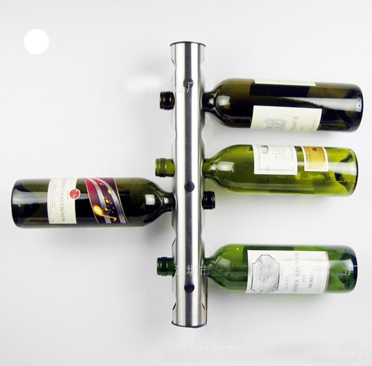 kreative zylindrischen wandmontage edelstahl wein wack 8 loch flasche wand h ngen weinregal. Black Bedroom Furniture Sets. Home Design Ideas