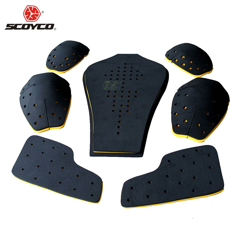 SCOYCO Motorcycle Racing Protector CE Certified Memory Polymer Material Shoulders Elbows Back Chest 7 Pieces Protective Gear(China (Mainland))