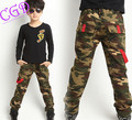 New Boys casual Camouflage Pants Children outdoor pockets pants kids army design trousers for Spring Autumn