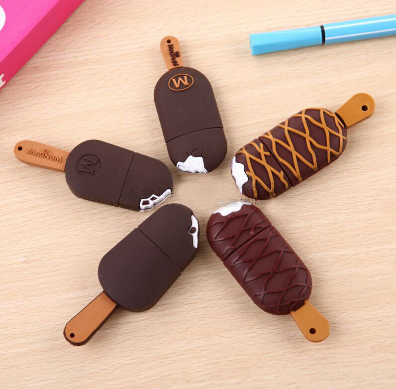 5 styles cute ice cream pendrive usb flash drive pen drive 4GB 8GB 16GB 32GB USB 2.0 Memory Stick U disk gift free shipping(China (Mainland))