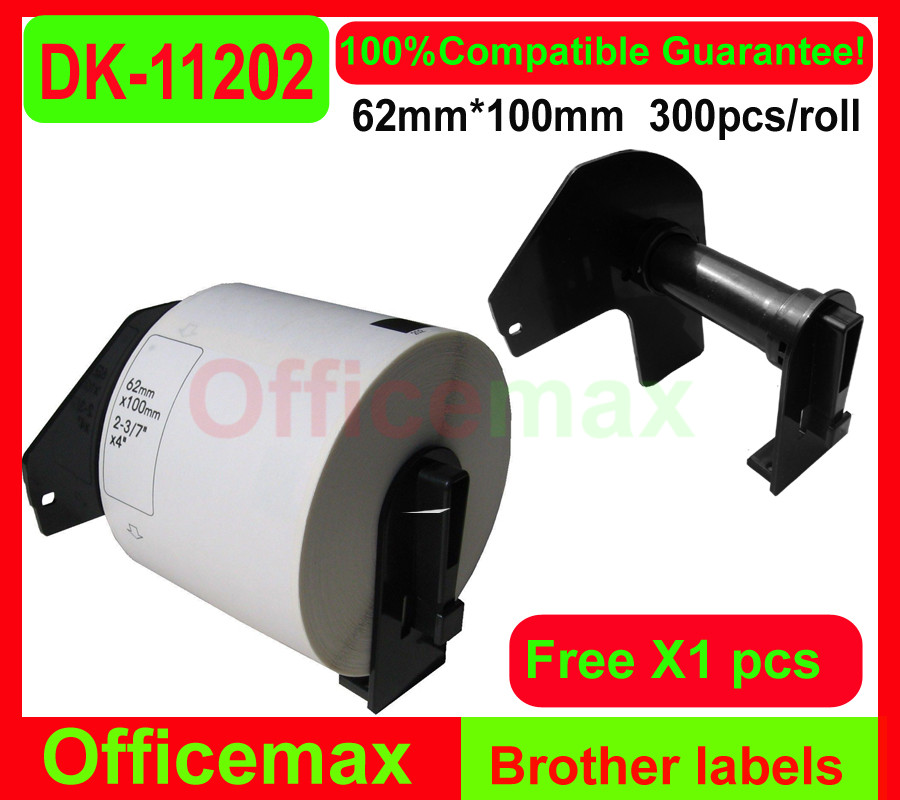 60x Rolls Brother Compatible LabelsSHIPPING LABEL , BROTHER , DK11202(China (Mainland))