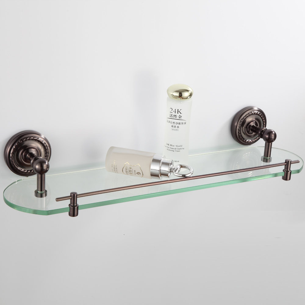 Wall Mounted Oil Rubbed Bronze Finish Bathroom Accessories Bathroom Shelves Racks In Bathroom