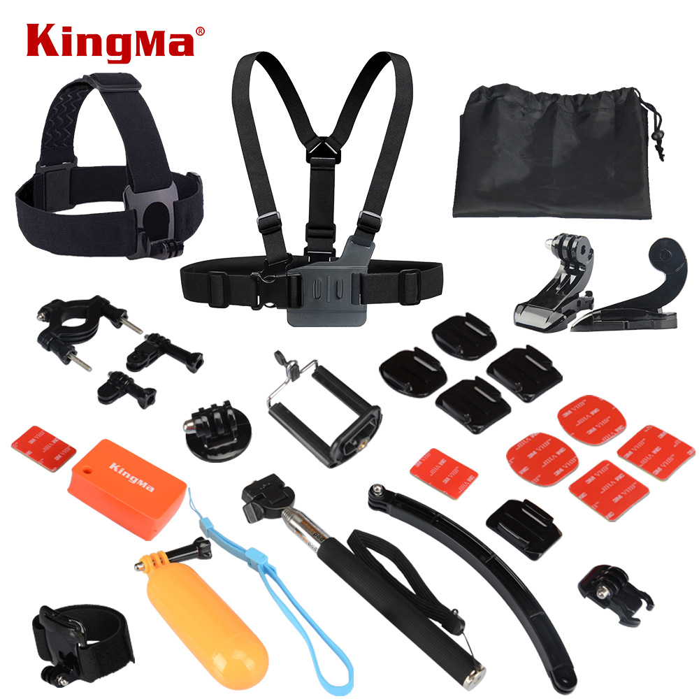 Go pro Hero Accessories Helmet Harness Chest Belt Head Mount Strap Monopod For Gopro Hero 4 2 Session 3+ Xiaomi Yi SJ4000 SJ5000