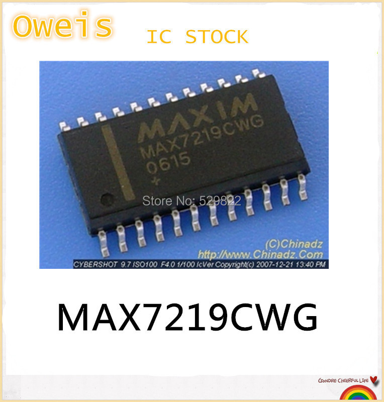 !12 MAX7219CWG MAX7219C MAX7219 IC DRIVER LED DISP 8DGT 24-SOIC hot sell. - STOCK store