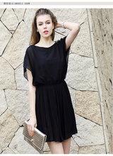 Large size women's summer new European leg Slim chiffon dress was thin base(China (Mainland))