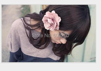 Fashion Women Peony Flower Hair Clip New Lady Hairpin Fresh Brooch Styling Tools Accessories Free Shipping