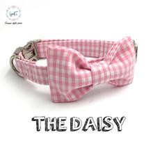 Розовый собака воротник галстук-бабочку персональных пользовательских пэт pupply дизайнер ручной DIY продукта dog & cat ожерелье XS-XL