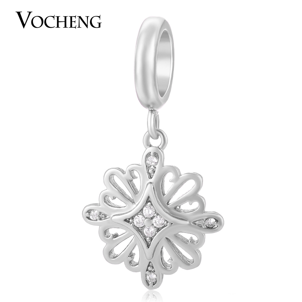 10pcs/lot Vocheng Interchangeable Jewelry 3 Colors Brass Material Zircon Lucky Charm for Women VC-158*10 Free Shipping(China (Mainland))