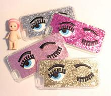 "Hot! Luxury Blink Eye Glitter Case Miss Gossip Chiara Ferragni TPU Plastic Soft Back Cover For iPhone 6 4.7"" / 6 Plus 5.5""SJK-22(China (Mainland))"