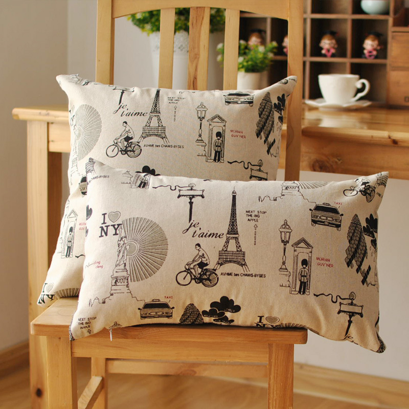 cushion cover for living room sofa seat printed throwpillow covers