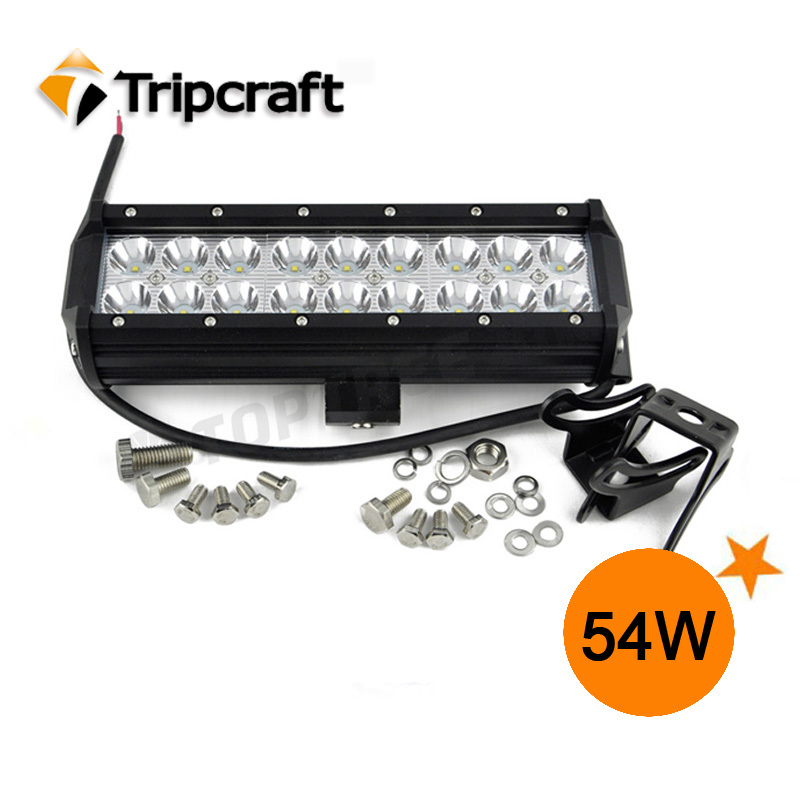 Free shipping 54W LED light bar for Truck spot/flood lights<br><br>Aliexpress