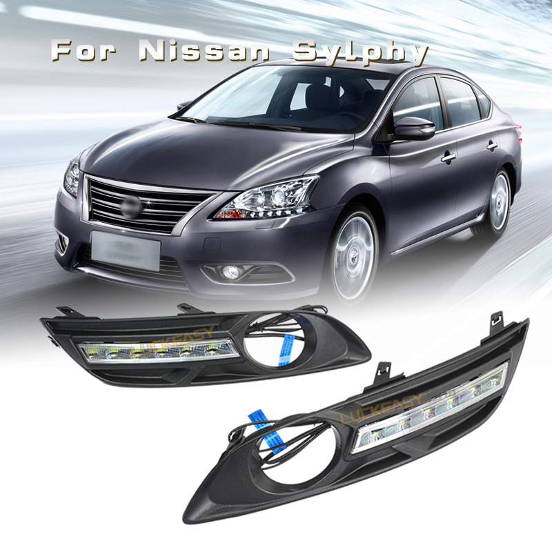 Фотография luckeasy for nissan  Sylphy DRL Led Lights Car  daytime running lights 2012 to 2014