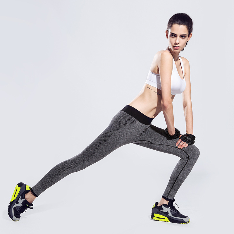 New Move Brand Sex High Waist Stretched Sport Pants Gym Clothes Spandex Running Tights Women Sports Leggings Fitness Yoga Pants(China (Mainland))
